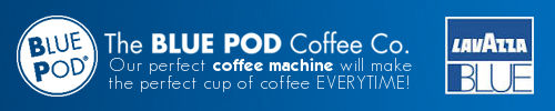 Blue Pod Coffee Machine